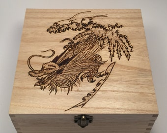Chinese dragon box personalised free with message