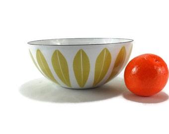 Vintage Catherineholm Yellow on White Lotus Bowl