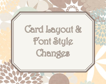 Custom Card Layout & Font Style Changes