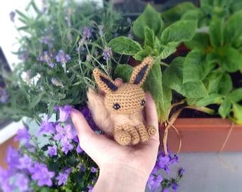 SALE! Pokemon EEVEE miniature - handmade crochet PokemonGo toy