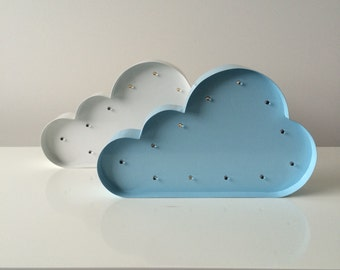 """Cloud Marquee Letter Light 12""""... Light Up Sign, LED battery operated... great for nurseries or kids rooms"""
