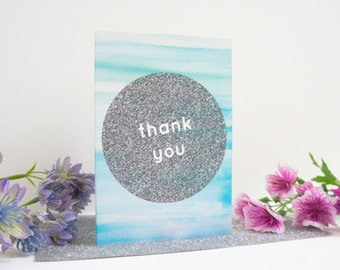 Thank You Card, Modern Greetings Card, Colourful Thank You Card, Thanks Card, Minimalist Stationery, Luxe Paper Goods, Happy Card