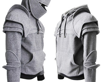 Knight Hoodie-Fleece Hoodie-Costume Hoodie-Hooded Sweatshirt-Medieval Costume-Knight Costume-Game Of Thrones Costume/Duncan knight hoodie
