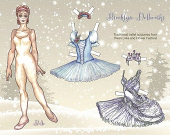 Ballet holiday paper doll
