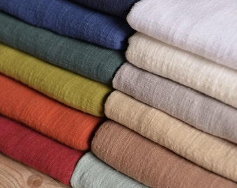 "Pure color cotton linen fabric, soft linen cotton fabric DIY fabric linen yarn fabric - 130 cm wide x 50 cm(51""x 19"")-MJ"