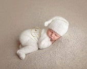 Newborn Knitted Pjs and knot hat PATTERN