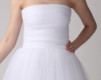 White tulle corset,Handmade tutu corset,Wedding tulle corset,Bridal tulle corset,Wedding tulle bodice,Bridal tulle bodice,Wedding bodice