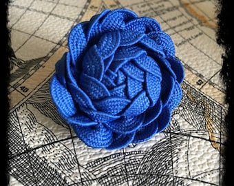 Rosette Lapel Pin ~ Royal Blue ~