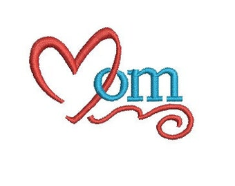 love mom embroidery design