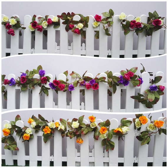 Wedding Flower Garlands: Mini Flowers Garlands 6 Strands Wedding Garland Artificial