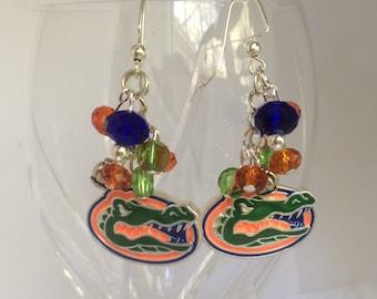 UF Florida Gators Earrings, Florida Gators, University of Florida Earrings, Gator Earrings, Florida Gator Earrings