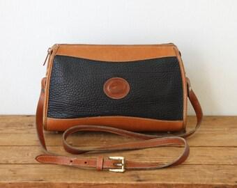 DOONEY and BOURKE Blue Black Classic Zip Top Handbag/ Dark Navy Dooney & Bourke Zipper AWL Crossbody Shoulder Bag/ Dooney and Bourke 0730-1
