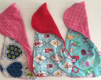 Baby Burp Cloths | Baby Shower Gift | Contoured Burp Rags