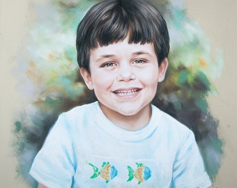 Child pastel portrait