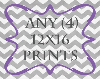 Any (4) 12x16 Print - ANY prints from Rizzle And Rugee -  Great for IKEA frames