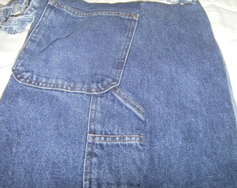 Blue jean repurposed used old  purse tote shoulder frayed handle hippie retro