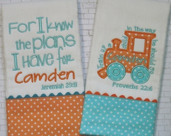 Personalized Baby Burp Cloths