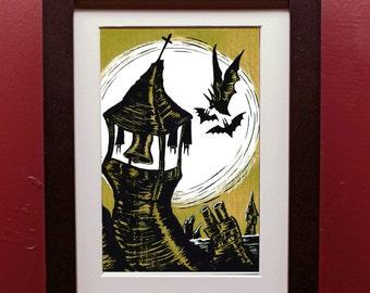 Bats in the Belfry Art Print