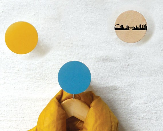 3 london wandhaken garderoben kn pfe naturholz buche city. Black Bedroom Furniture Sets. Home Design Ideas