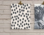 Black Ikat Polka Dots Wall Art Print - City Chic Collection