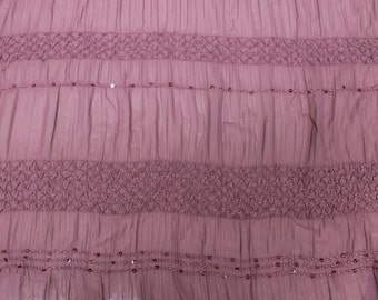 Mauve 2tone Chiffon Stretch Sequin Fabric by the yard Style 8069