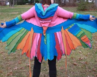Sale! 20% off. Upcycled sweater coat katwise inspired size medium. Was 280.
