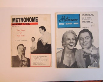 Two Vintage 1950s METRONOME Jazz Magazines Peggy/ Dave, Erroll Garner, Stan Getz