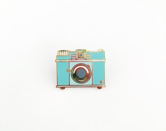 Retro Camera // Enamel Pin
