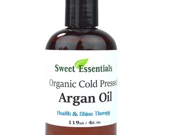 Organic 100% Pure Moroccan Argan Oil - 4oz -  Imported from Morocco