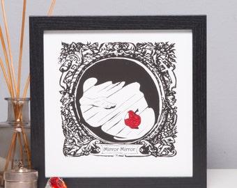 Snow White Glittered Print by DEBONO & BENNETT