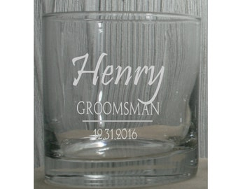 Groomsmen Gifts - Personalized 10.25 oz Rocks Glasses - Perfect for Birthdays, Bachelor Parties, Groomsmen Whiskey Glasses,  Man Cave