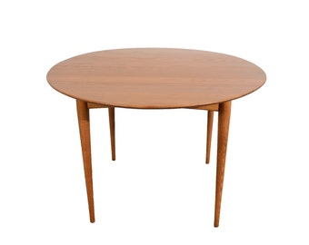 Round Dining Table Mid Century Modern Elm Dining Table
