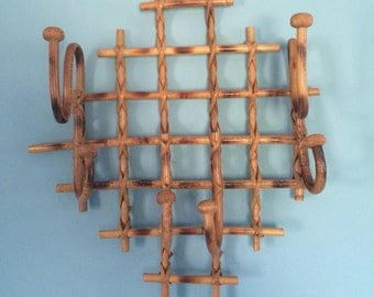 Retro 70's Bamboo Wall Hanging