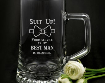 1x Limted Edition Engraved 500ml Bridal Party Beer Mug