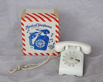 Vintage Telephone Music Box - Rock a Bye Baby Music Box - Lullaby Music Box - Baby Shower Gift - Vintage Music Box - Nursery Decor