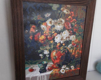LARGE WALL CABINET      Wall Storage      Handpainted      Removable and Replaceable Picture     Available Now