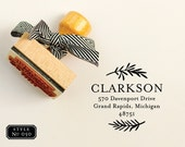 Custom Address Stamp, Classic Return Address Stamps, Rubber Stamp with Wood Handle, Moving Gift, Housewarming Present