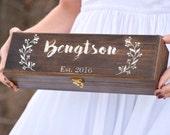 Personalized Wine Box - Wine Ceremony - Keepsake Time Capsule - Wedding Gift - Housewarming Gift - Wood Wine Box - Wedding Shower Gift