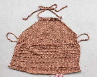 Hand Knit Halter Top