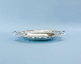 Vintage Elegant Scrolls Silver 800 Decorative BOWL Traditional Christmas Small Mid 20th Century Continental European LS