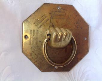 Vintage Hand Door Knocker Brass Hand Door Knocker Brass Hand