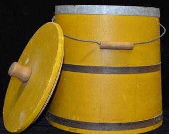 221 Primitive Firkin in Mustard Paint