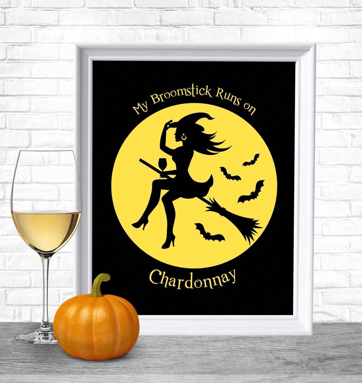 Printable Halloween, Halloween Decor, Halloween Funny Decor, Wine ...
