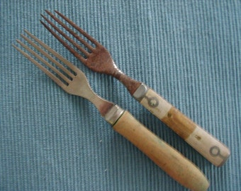 2 Wooden Handle forks from the Civil War Era.