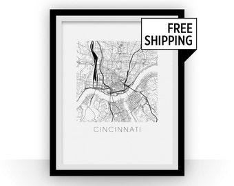 Cincinnati Map Print
