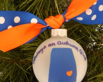Auburn Ornament-War Eagle-AU-College