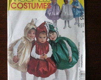 Toddler's Hershey's Kisses Costume for Boy's or Girl's McCall's 9485 Size 4 Uncut Sewing Pattern Halloween Candy Costumes