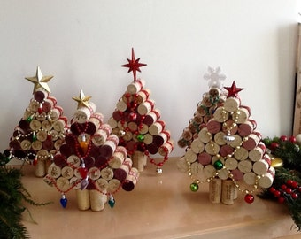 Wine cork Christmas Tree.....Upcycled  Cork Christmas Decorations,  Large Tree