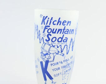 Kitchen Fountain Soda Frosted Glass