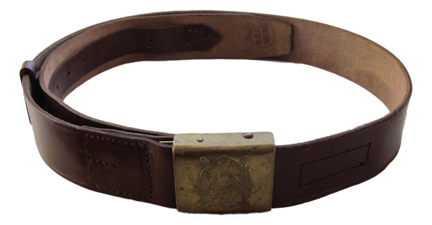 army leather combat belt by mikesmilitaria